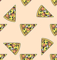 pizza slice colored seamless pattern vector image vector image