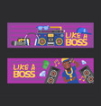rap music dj character singing in vector image vector image