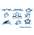 real estate logo designs vector image vector image