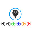 retired smiley map marker rounded icon vector image