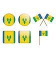 Saint Vincent and the Grenadines Flag Badges vector image vector image