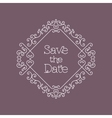Save the Date card line art Wedding design vector image vector image
