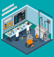 scientist isometric vector image vector image