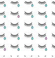 seamless background with tears and eyelashes vector image vector image