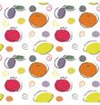 seamless fruit pattern in scandinavian style vector image vector image