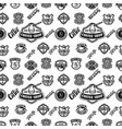 seamless pattern with coffee design elements vector image vector image