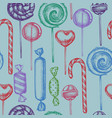 seamless pattern with colored lollipop candies vector image vector image