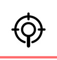 seo target icon for web or mobile app vector image vector image