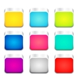 set color apps icons vector image