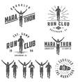 set run club labels emblems and design element vector image vector image