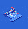 shipment delivery isometric vector image vector image