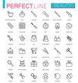 spa beauty and cosmetic thin line web icons set vector image vector image