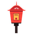 street mailbox isolated icon letters box and vector image