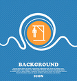 Suicide concept icon sign Blue and white abstract vector image vector image