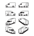 van in different perspective vector image