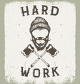 vintage prints label for lumberjack style vector image
