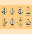 vintage retro anchor badge sign sea ocean vector image