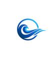 wave ocean logo icon blue waves symbol logo vector image
