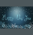 winter holiday background with snow and stars vector image vector image