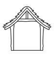 wooden stable cartoon vector image