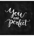 You are perfect inspirational card vector image