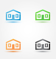 Abstract house real estate symbol - building house vector image