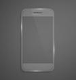 Futuristic glass smartphone vector image